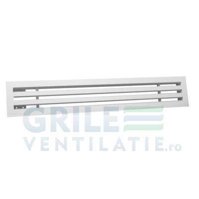 grila tip slot din aluminiu vopsita electrostatic