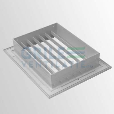 grila simpla deflexie din aluminiu cu lamele fixe