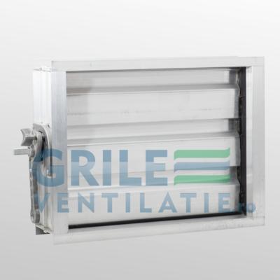 Clapaeta de reglaj pentru tubulatura rectangulara permite reglarea volumului de aer